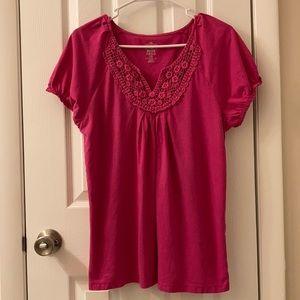 5/$25 IZOD pink t-shirt size Large